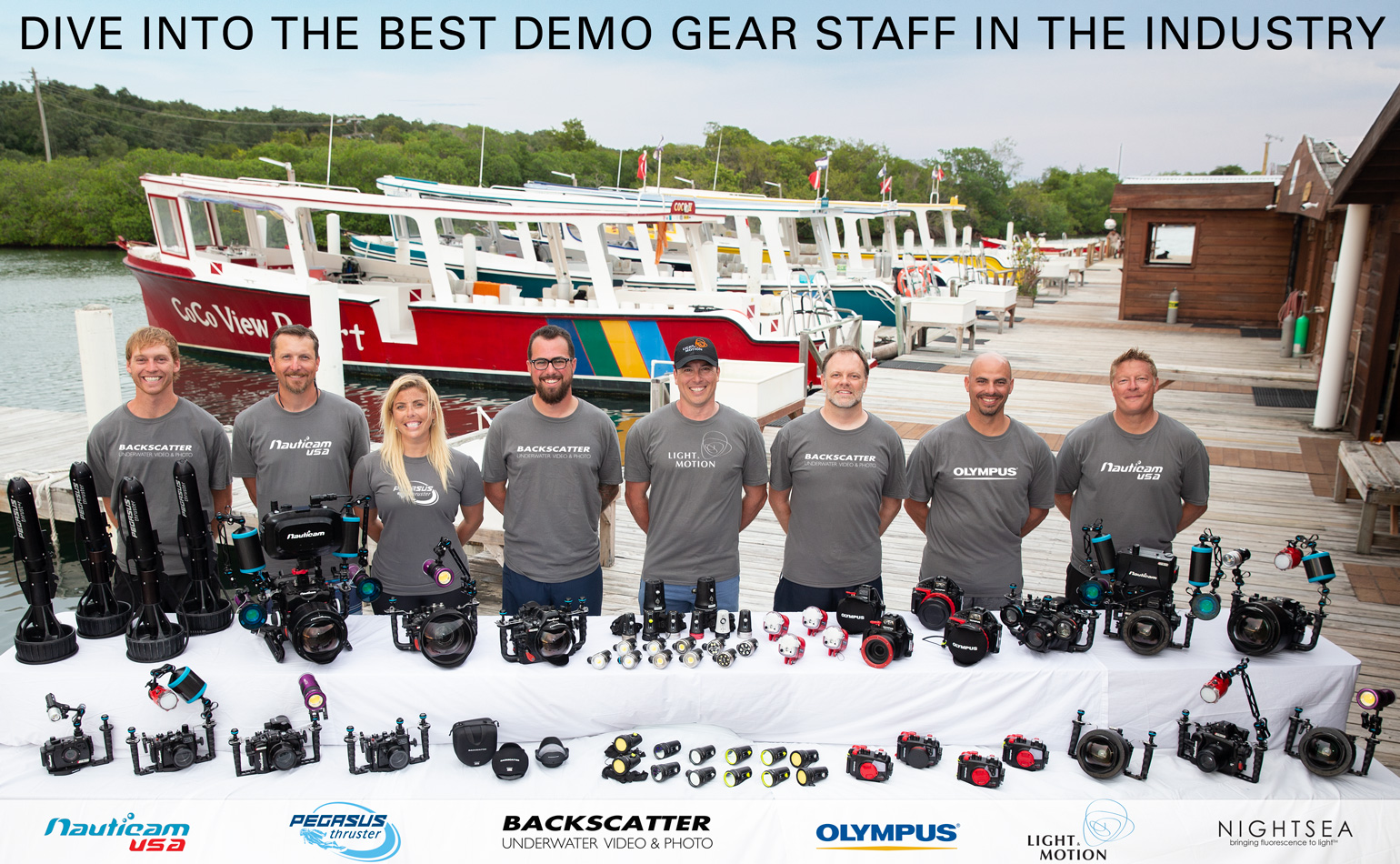 The Digitial Shootout Demo Gear and Tech Support Staff